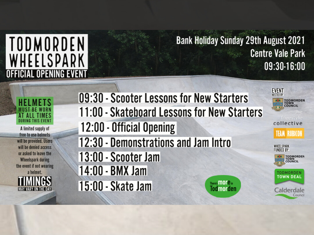 Todmorden Wheels Park Official Opening – 29th August 2021